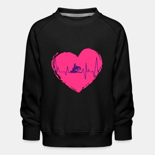 Herz Heartbeat Slider Reining Herzschlag - Kinder Premium Pullover