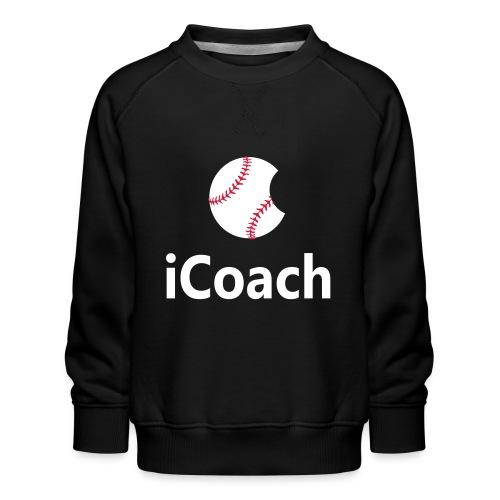 Baseball Logo iCoach - Kids' Premium Sweatshirt
