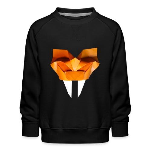 Origami Saber Toothed Tiger Mask - Origami Tiger - Kids' Premium Sweatshirt