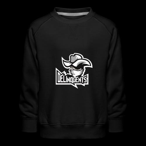 Delinquents Sort Design - Børne premium sweatshirt