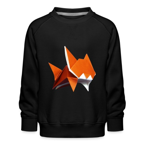 Jumping Cat Origami - Cat - Gato - Katze - Gatto - Kids' Premium Sweatshirt