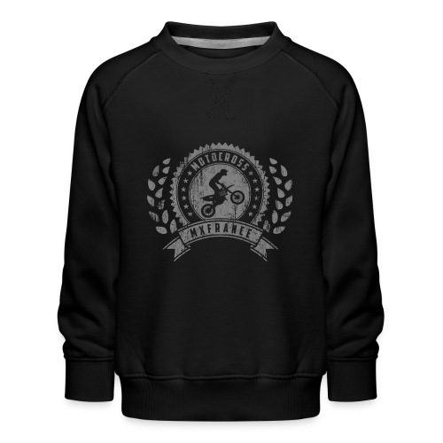 Motocross Retro Champion - Sweat ras-du-cou Premium Enfant