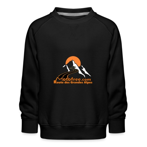 logo motofree orange - Sweat ras-du-cou Premium Enfant