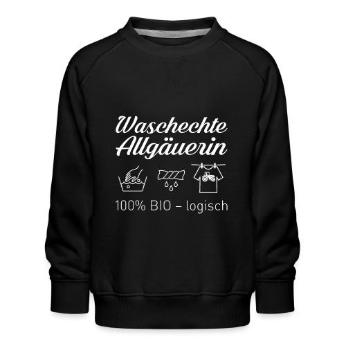 Waschechte Allgäuerin weiss - Kinder Premium Pullover