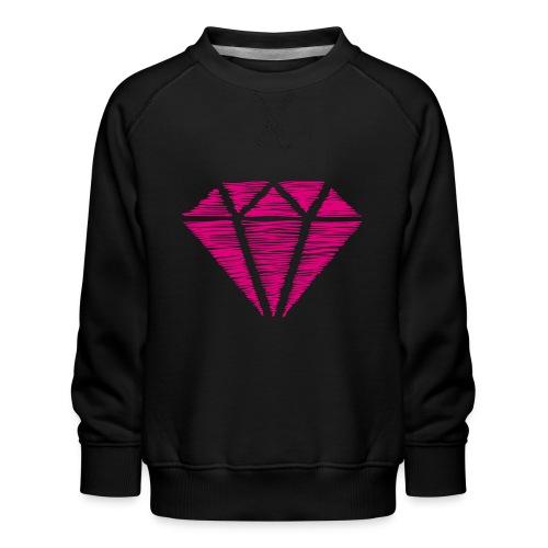 Diamante rosa - Sudadera premium para niños y niñas