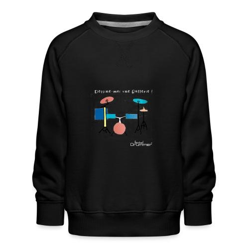 Azia Drum White - Kids' Premium Sweatshirt