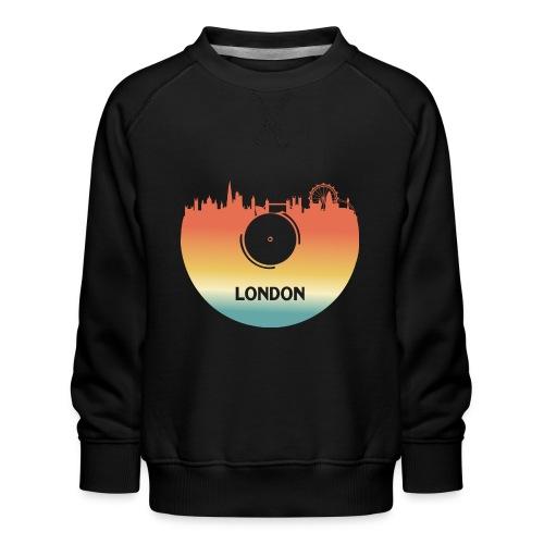 London Skyline Vinyl Schallplatte London Souvenir - Kinder Premium Pullover