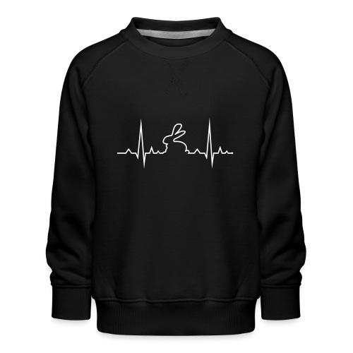 EKG Herzschlag Hase Kaninchen Zwergkaninchen - Kinder Premium Pullover