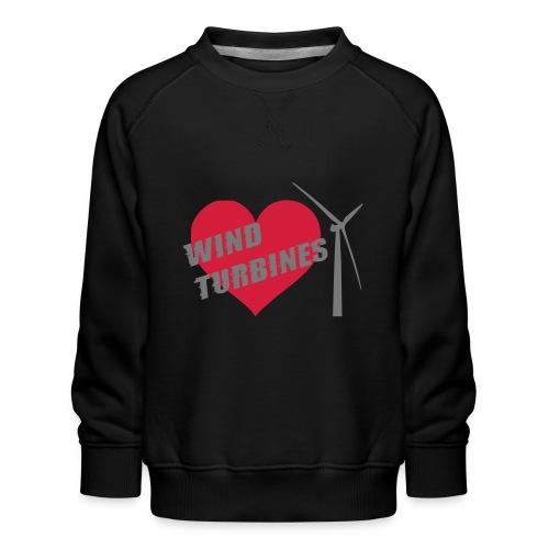 wind turbine grey - Kids' Premium Sweatshirt