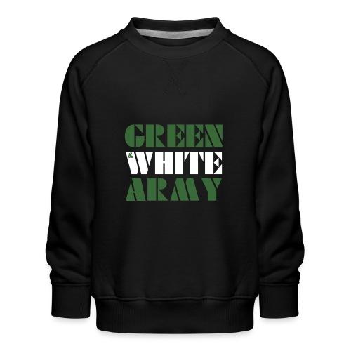 GREEN & WHITE ARMY _STENCIL_3 - Kids' Premium Sweatshirt