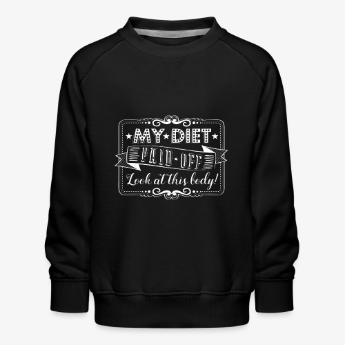 Handlettering My diet paid off (W) - Kinderen premium sweater