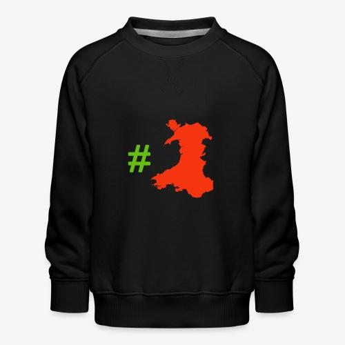 Hashtag Wales - Kids' Premium Sweatshirt