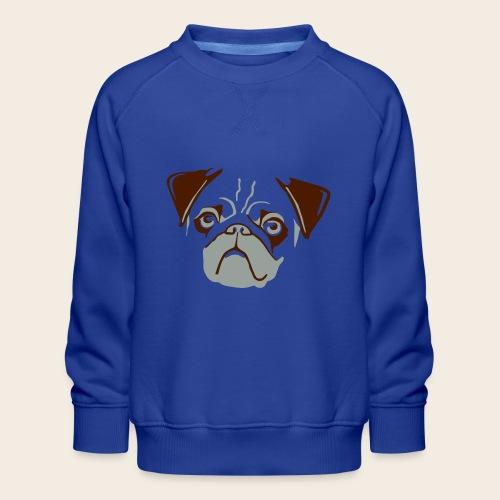 otiz mops kopf 2farbig - Kinder Premium Pullover