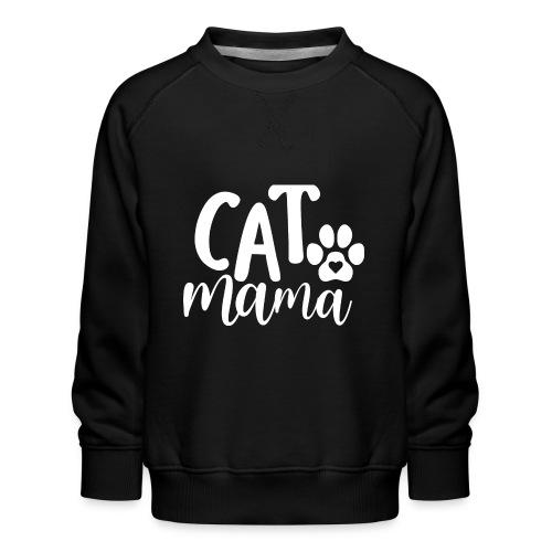 CAT MAMA - Sweat ras-du-cou Premium Enfant