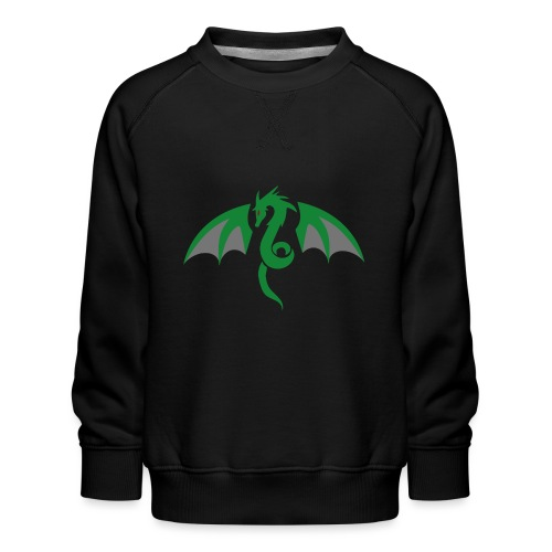 Red eyed green dragon - Kinderen premium sweater
