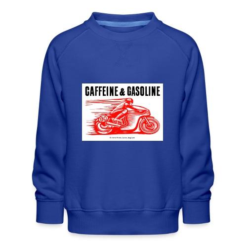 Caffeine & Gasoline black text - Kids' Premium Sweatshirt