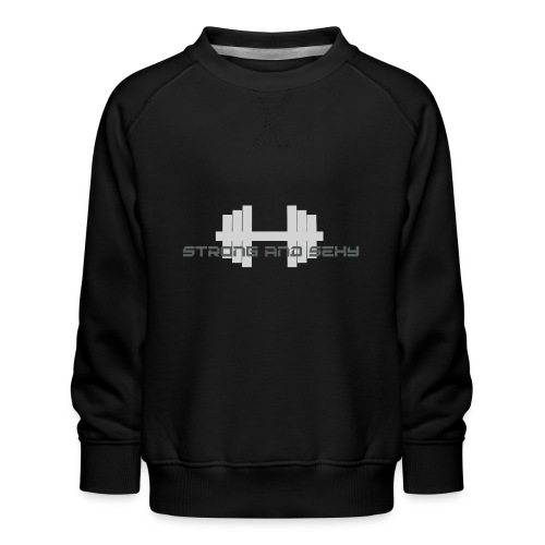 sasdumbell3 png - Kinderen premium sweater