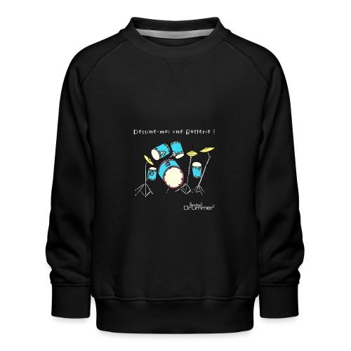Luigi Drum White - Kids' Premium Sweatshirt