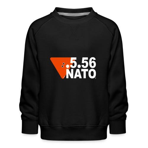 .5.56 NATO BLANC - Sweat ras-du-cou Premium Enfant