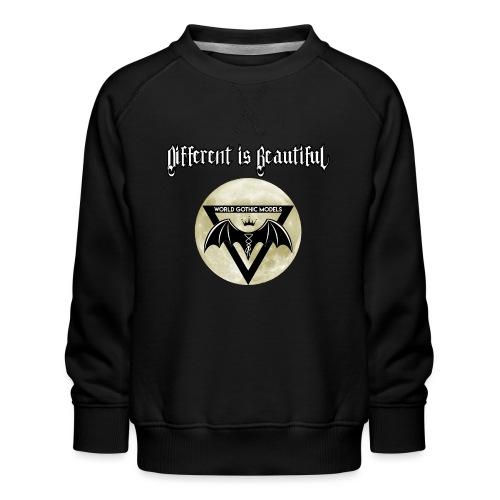 Different is Beautiful with Moon WGM Logo - Kids' Premium Sweatshirt