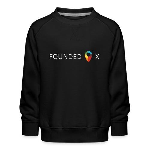 FoundedX logo white png - Kids' Premium Sweatshirt