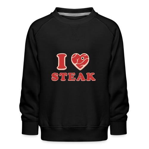 I love steak - Steak in Herzform Grillshirt - Barc - Kinder Premium Pullover