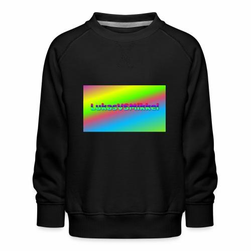 LukasVSMikkel Logo - Børne premium sweatshirt