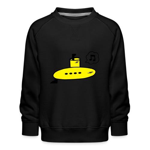 Singing Yellow Submarine - Kids' Premium Sweatshirt