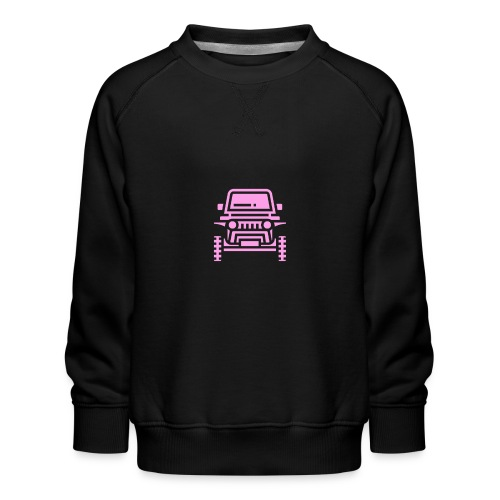 Outdoors pink car jeep - Bluza dziecięca Premium