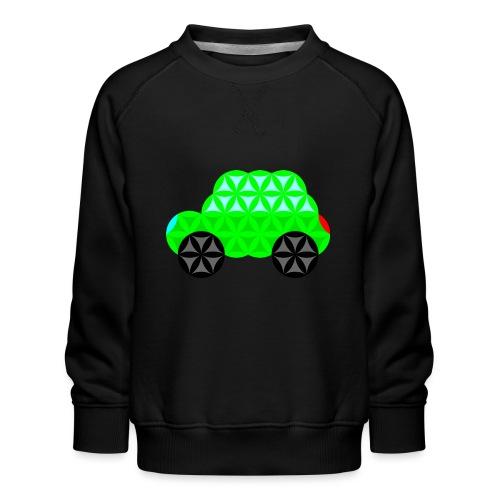 The Car Of Life - M01, Sacred Shapes, Green/R01. - Kids' Premium Sweatshirt