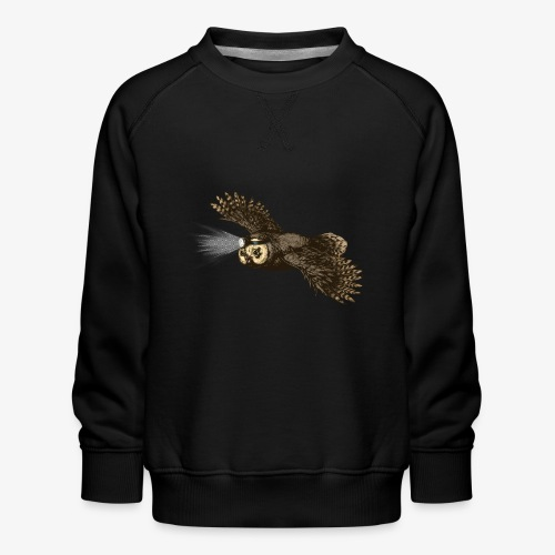 Owl_headlight - Kids' Premium Sweatshirt