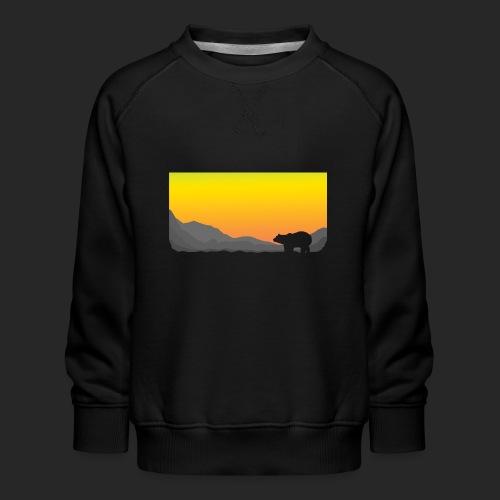Sunrise Polar Bear - Kids' Premium Sweatshirt