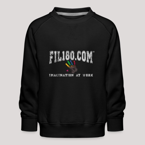 FIL180 Hoody WHITE - Kids' Premium Sweatshirt