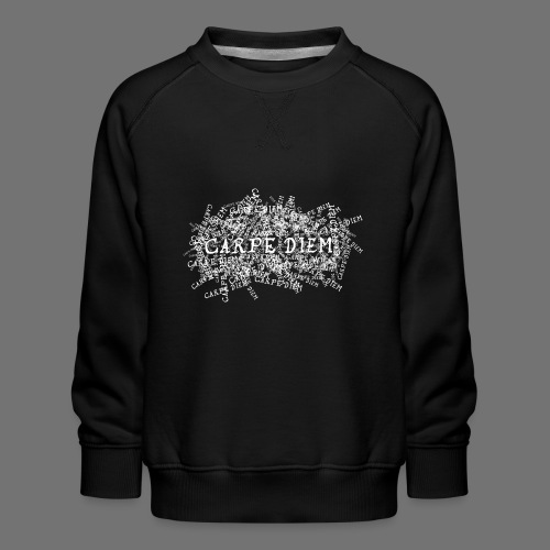 carpe diem (hvid) - Børne premium sweatshirt
