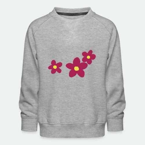 Three Flowers - Kids' Premium Sweatshirt