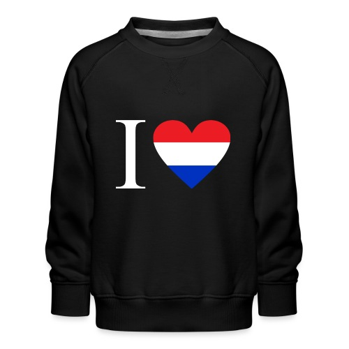 Ik hou van Nederland | Hart met rood wit blauw - Kinderen premium sweater