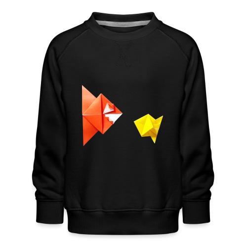 Origami Piranha and Fish - Fish - Pesce - Peixe - Kids' Premium Sweatshirt