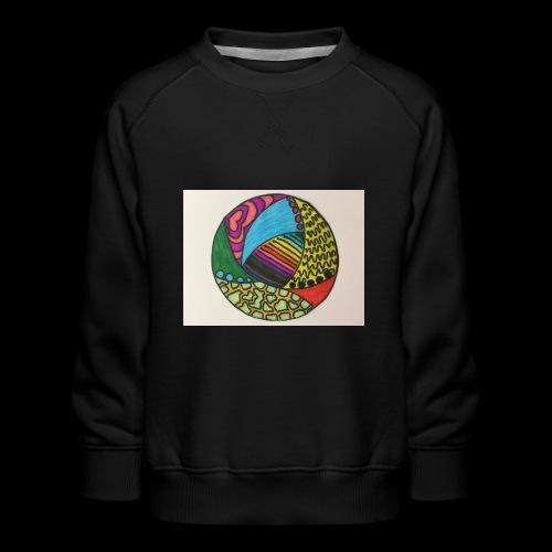 circle corlor - Børne premium sweatshirt