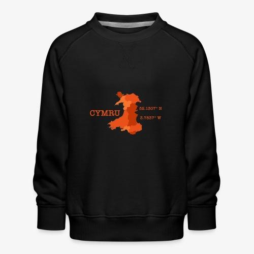 Cymru - Latitude / Longitude - Kids' Premium Sweatshirt