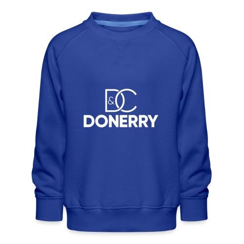 DONERRY New White Logo on Dark - Kids' Premium Sweatshirt
