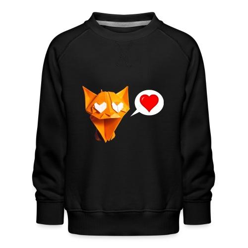 Adorable Cat Origami - Cat - Gato - Gatto - Katze - Kids' Premium Sweatshirt