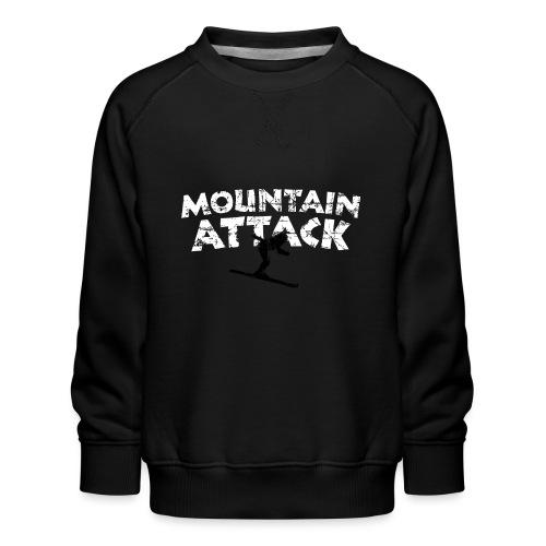 MOUNTAIN ATTACK Wintersport Ski Design (B&W) - Kinder Premium Pullover