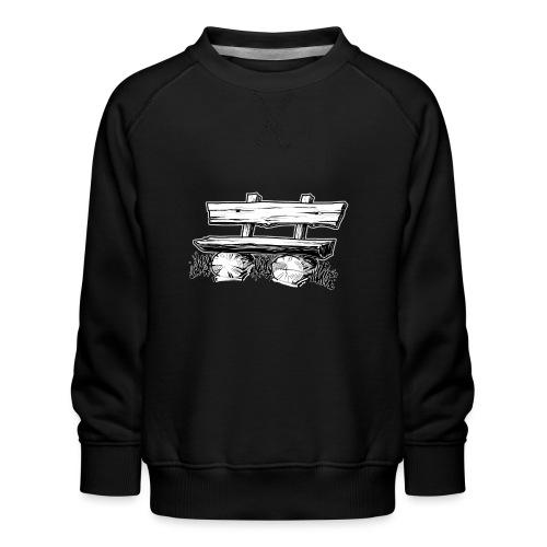 995 Bank hout outline - Kinderen premium sweater