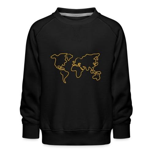 Wereldkaart - Kinderen premium sweater