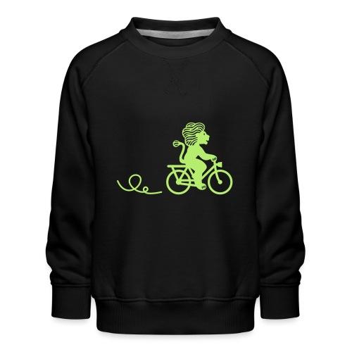 Züri-Leu beim Velofahren ohne Text - Kinder Premium Pullover