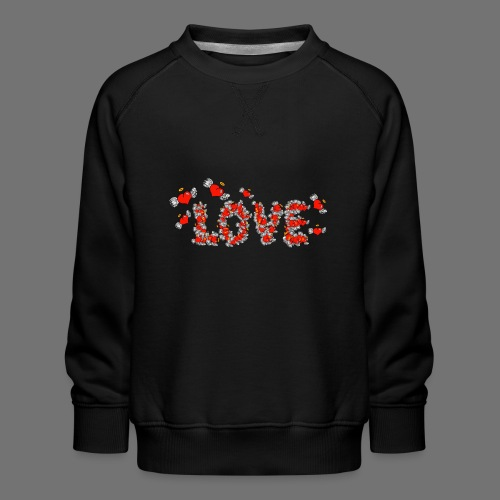 Flying Hearts LOVE - Børne premium sweatshirt