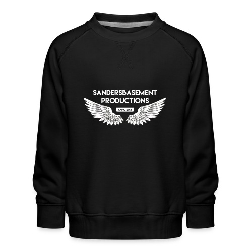 T SHIRT logo wit png png - Kinderen premium sweater