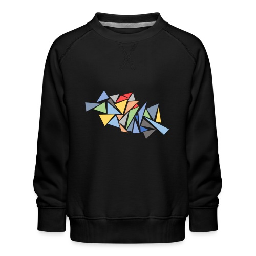 Modern Triangles - Kids' Premium Sweatshirt