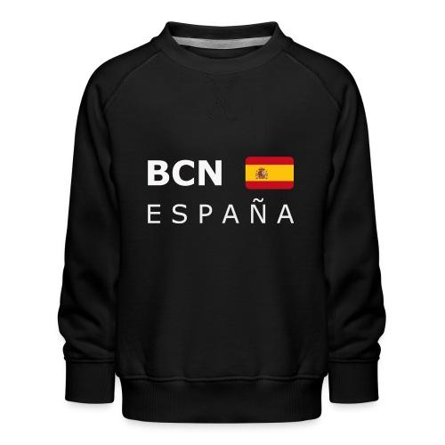BCN ESPAÑA white-lettered 400 dpi - Kids' Premium Sweatshirt