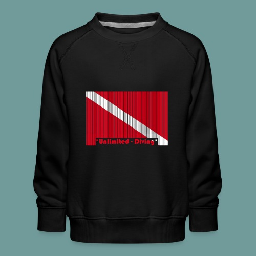 flag_barre_ud - Sweat ras-du-cou Premium Enfant